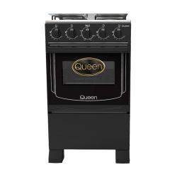 Cocina supergas 4 hornallas negra Queen