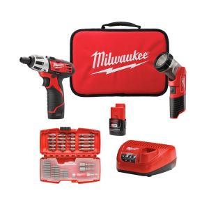 Kit Atornillador con puntas + Linterna Led Milwaukee