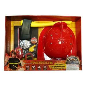 Set indumentaria de bombero con casco