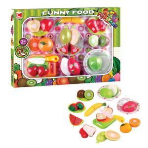 Set de frutas y verduras con accesorios