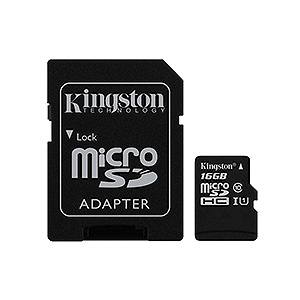 Memoria Micro SD Kingston 16 GB Class 10