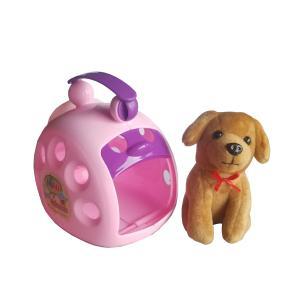 Perrito Mascota con transportador