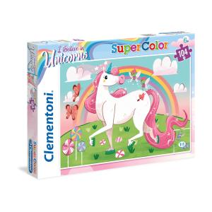Puzzle 104 piezas Supercolor - I Believe in Unicorns